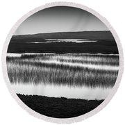 Loch Na Maracha, Isle Of Harris Round Beach Towel