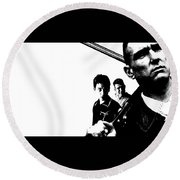 Lock, Stock And Two Smoking Barrels Round Beach Towel