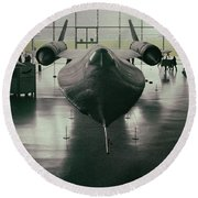 Lockheed Blackbird Round Beach Towel