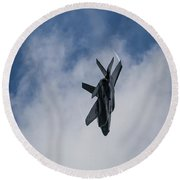 Lockheed Martin F-35 Lightning II Round Beach Towel by Shirley Mitchell