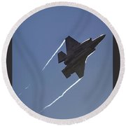 Lockheed Martin F-35b Lightning II Round Beach Towel by Shirley Mitchell