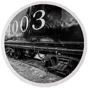 Locomotive Engine Round Beach Towel