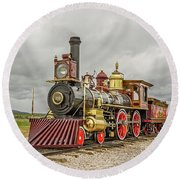 Round Beach Towel featuring the photograph Locomotive No. 119 by Sue Smith