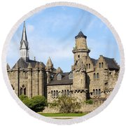 Loewenburg - Lionscastle Near Kassel, Germany Round Beach Towel