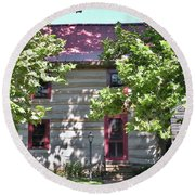 Log Cabin 5 - Lewes Delaware  Round Beach Towel