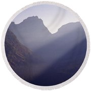 Logan Pass Round Beach Towel