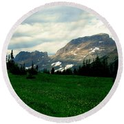 Logan's Pass Round Beach Towel