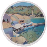Loggos Pier View Round Beach Towel