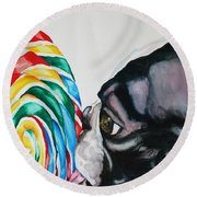 Lolli Pup Round Beach Towel