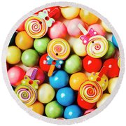 Lolly Shop Pops Round Beach Towel
