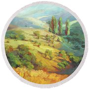 Lombardy Homestead Round Beach Towel
