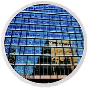 London Bankside Architecture 2 Round Beach Towel