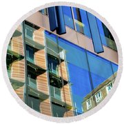London Bankside Architecture 3 Round Beach Towel