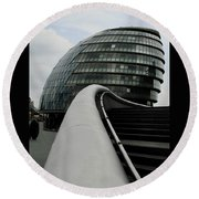 London City Hall Round Beach Towel