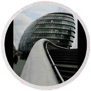 London City Hall Round Beach Towel