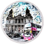 London Classic Art Round Beach Towel