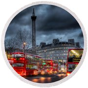 London Red Buses Round Beach Towel
