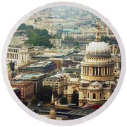 London Rooftops Round Beach Towel