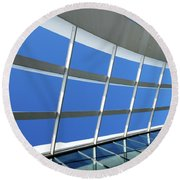 London Sky Garden Architecture 3 Round Beach Towel