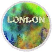 London - Skyline Round Beach Towel