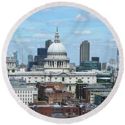 London Skyscrape - St. Paul's Round Beach Towel