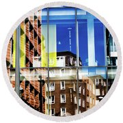 London Southwark Architecture 2 Round Beach Towel