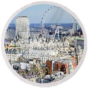 London Round Beach Towel
