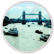 Round Beach Towel featuring the photograph London Uk by Michelle Dallocchio
