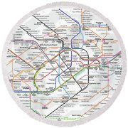 London Underground Map Round Beach Towel