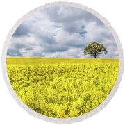 Lone Beauty Round Beach Towel