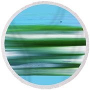 Lone Crow Round Beach Towel by Lenore Senior