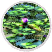 Lone Lily Round Beach Towel