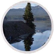 Lone Pine Reflection Chambers Lake Hwy 14 Co Round Beach Towel