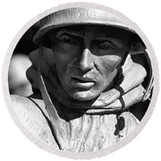 Lone Soldier  Round Beach Towel by John S