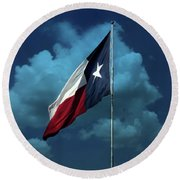 Lone Star Round Beach Towel by Joan Bertucci