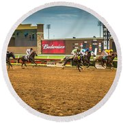 Lone Star Park Grand Prairie Texas Round Beach Towel