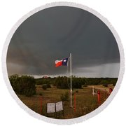 Lone Star Supercell Round Beach Towel