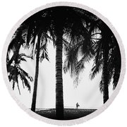 Round Beach Towel featuring the photograph Lone Wolf by Nik West