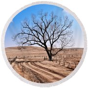 Lone Tree February 2010 Round Beach Towel