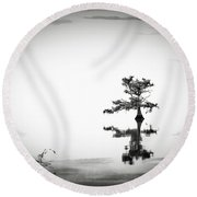 Round Beach Towel featuring the photograph Loneliness by Eduard Moldoveanu
