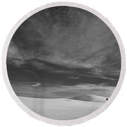 Loneliness Round Beach Towel