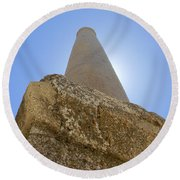Lonely In Heliopolis Round Beach Towel