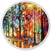 Lonely Light Round Beach Towel