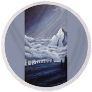 Lonely Mountain Round Beach Towel