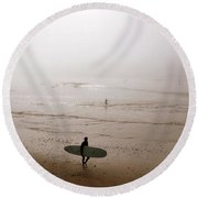 Lonely Surfer Round Beach Towel