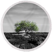 Lonely Tree Round Beach Towel
