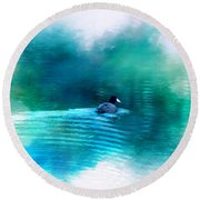Lonely Without You Round Beach Towel
