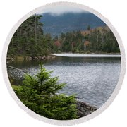 Lonesome Lake Round Beach Towel