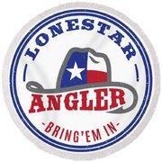 Lonestar Angler Round Beach Towel