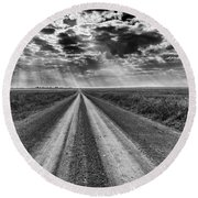 Long And Lonely Round Beach Towel
